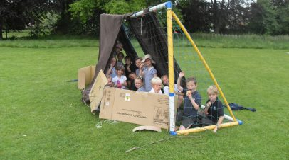 Den Building Day Raises £76.20 for 'Save the Children' Charity